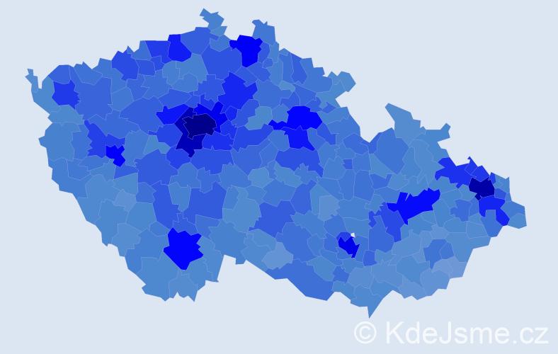 Jméno: 'Lucie', počet výskytů 109418 v celé ČR
