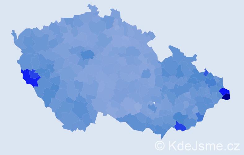Jméno: 'Anna', počet výskytů 145165 v celé ČR