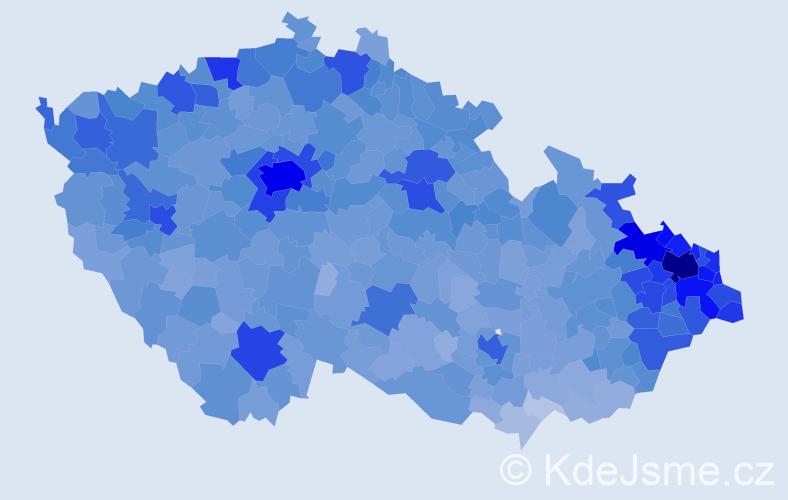Jméno: 'Daniel', počet výskytů 57187 v celé ČR