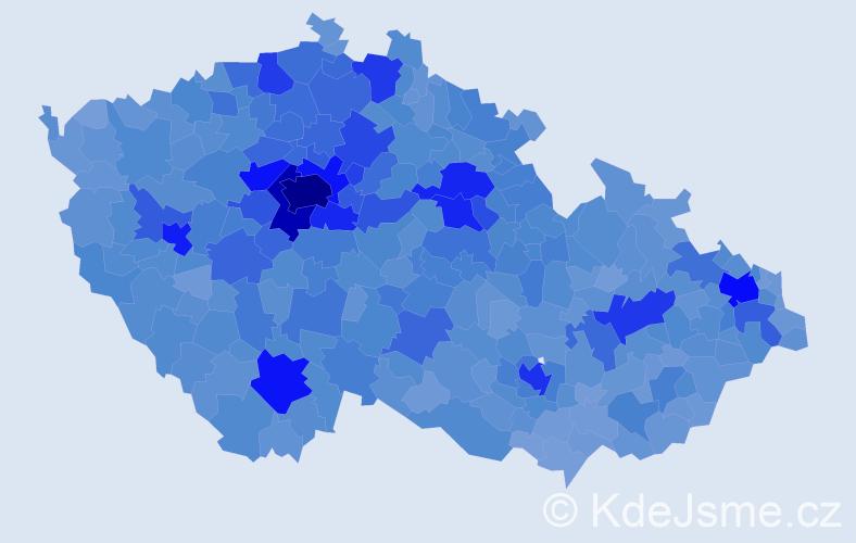Jméno: 'Tereza', počet výskytů 75948 v celé ČR