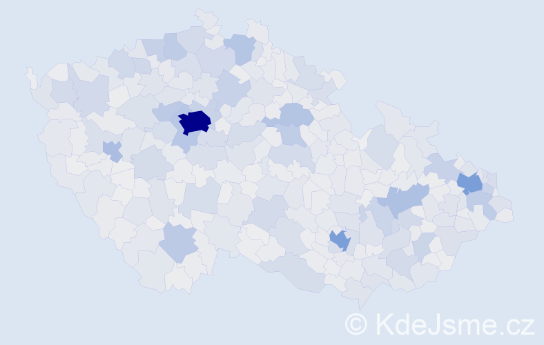 Jméno: 'Kateřina', počet výskytů 114233 v celé ČR