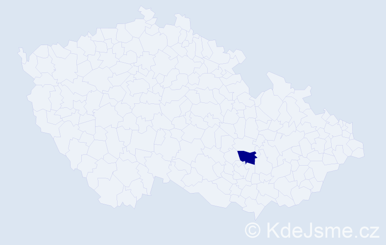 Jméno: 'Šimon Želmír', počet výskytů 1 v celé ČR