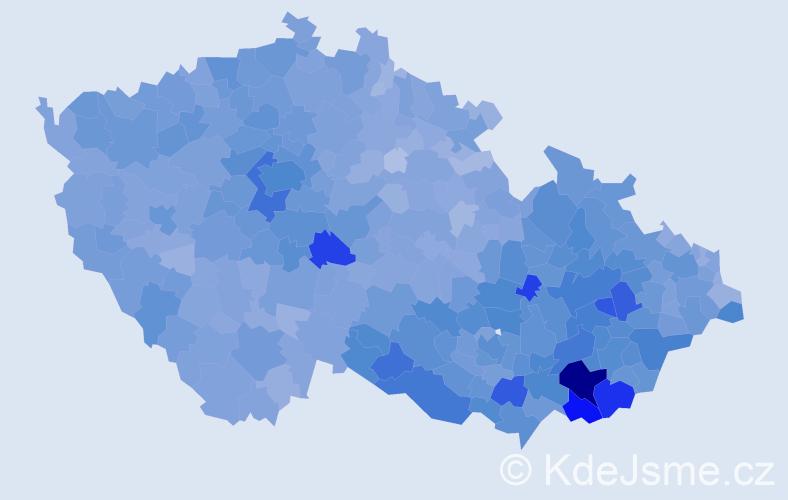 Jméno: 'Antonín', počet výskytů 54083 v celé ČR