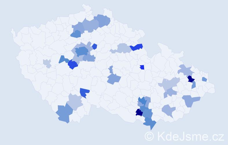 Jméno: 'Meda', počet výskytů 67 v celé ČR