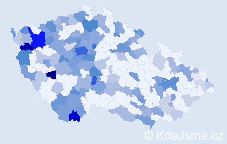 Jméno: 'Natalija', počet výskytů 271 v celé ČR