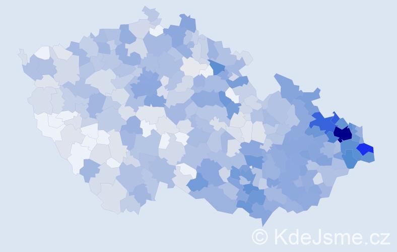 Jméno: 'Táňa', počet výskytů 1737 v celé ČR