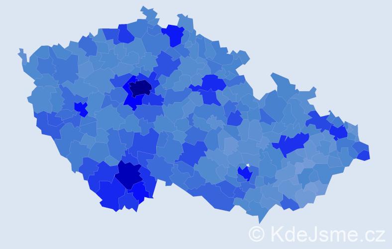 Jméno: 'Jan', počet výskytů 294344 v celé ČR