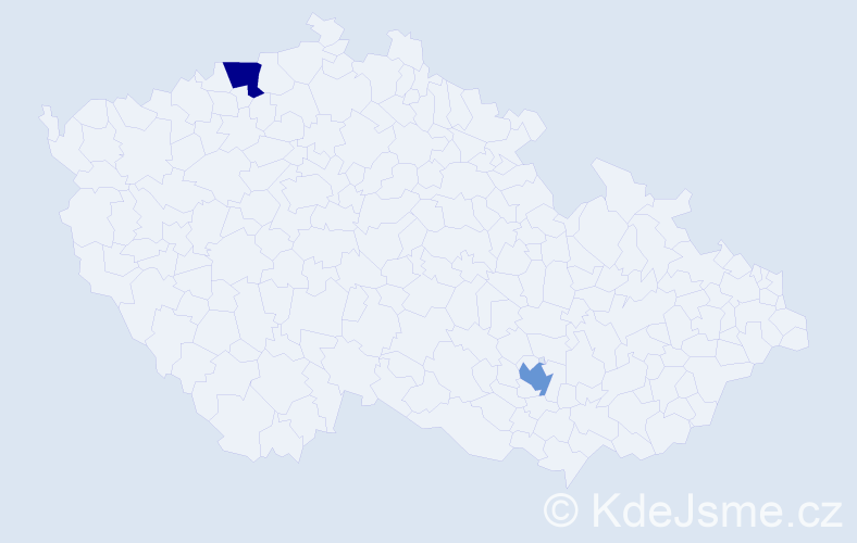 Jméno: 'Griselda', počet výskytů 2 v celé ČR