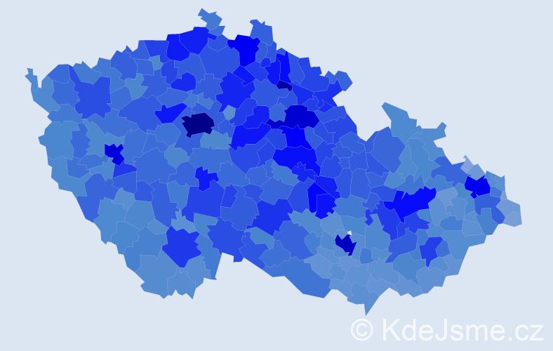 Jméno: 'Věra', počet výskytů 119421 v celé ČR