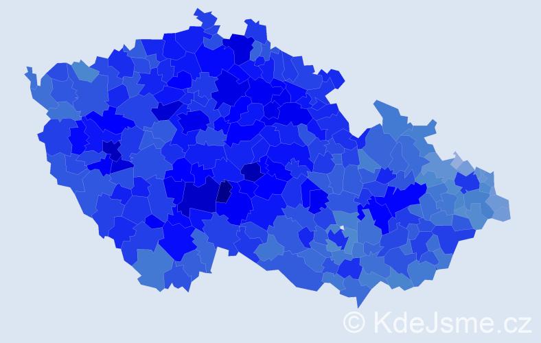 Jméno: 'Jaroslav', počet výskytů 179284 v celé ČR