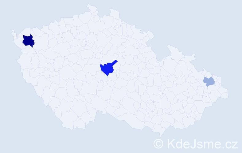 Jméno: 'Teobald', počet výskytů 4 v celé ČR