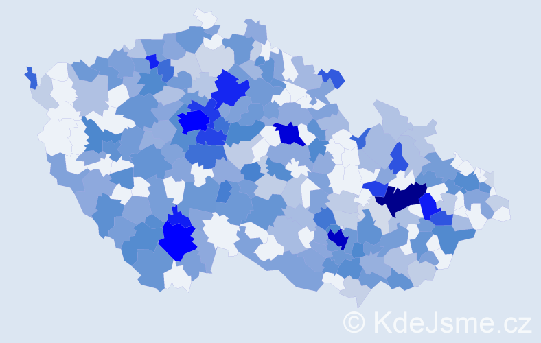Jméno: 'Adina', počet výskytů 574 v celé ČR