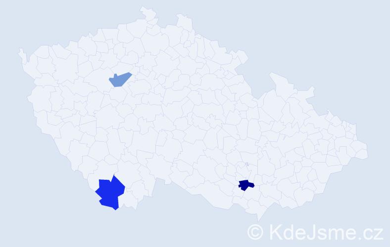 Jméno: 'Quoc Ha', počet výskytů 3 v celé ČR