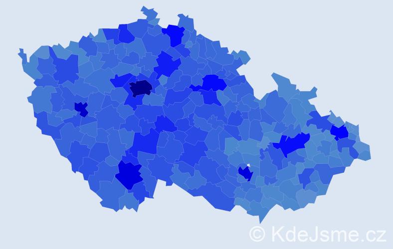 Jméno: 'Jana', počet výskytů 272693 v celé ČR