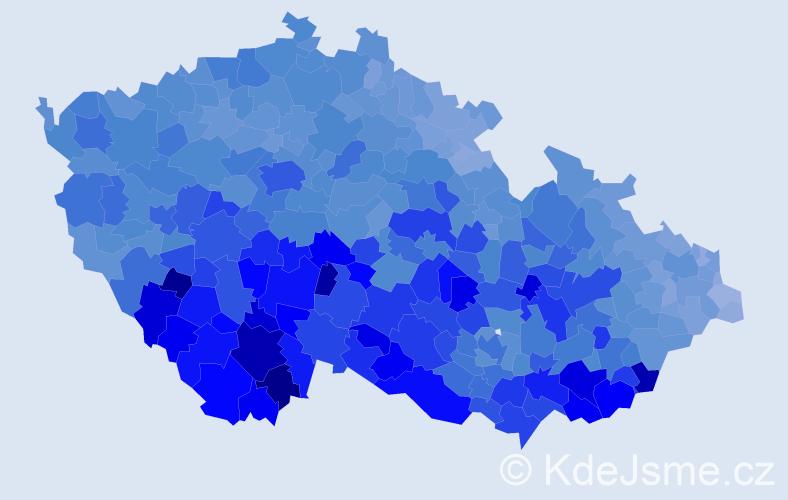 Jméno: 'František', počet výskytů 134884 v celé ČR