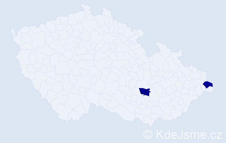 Jméno: 'Šárka Elena', počet výskytů 2 v celé ČR