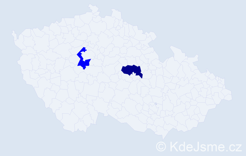 Jméno: 'Šimon Gabriel', počet výskytů 2 v celé ČR