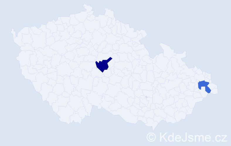 Jméno: 'Štefan Samuel', počet výskytů 2 v celé ČR