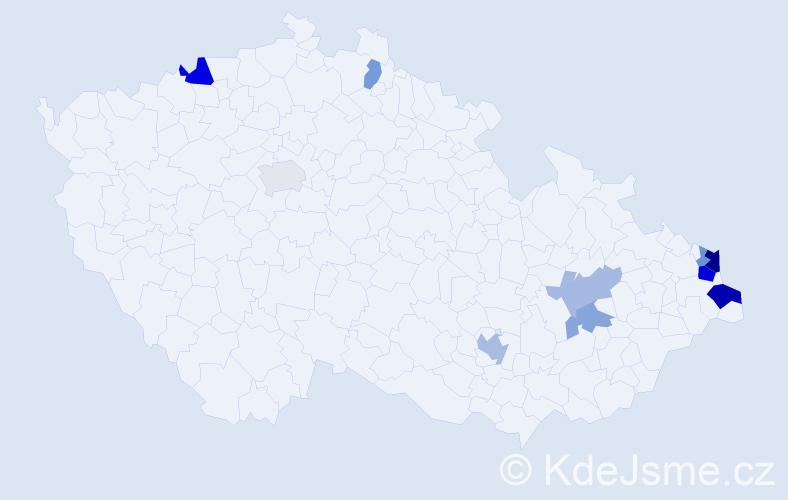 Jméno: 'Wieslaw', počet výskytů 20 v celé ČR