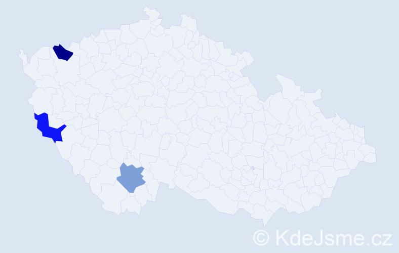 Jméno: 'Canan', počet výskytů 3 v celé ČR