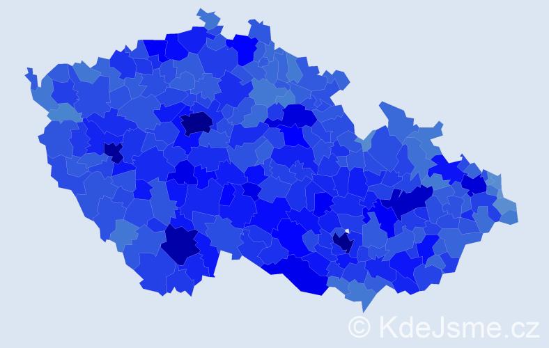 Jméno: 'Pavel', počet výskytů 203411 v celé ČR