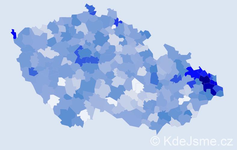 Jméno: 'Sebastián', počet výskytů 1814 v celé ČR