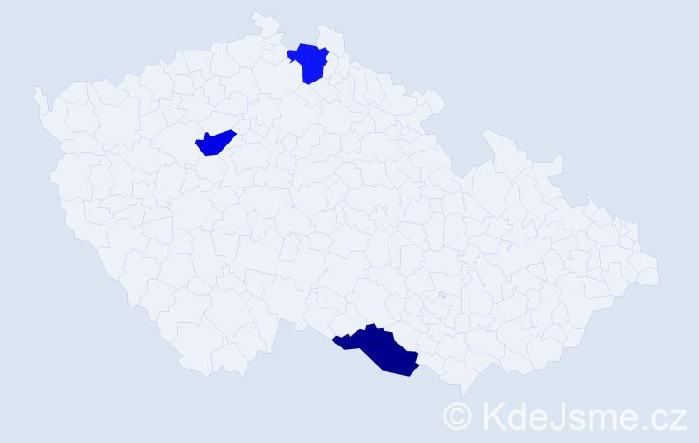 Jméno: 'Gia Han', počet výskytů 3 v celé ČR
