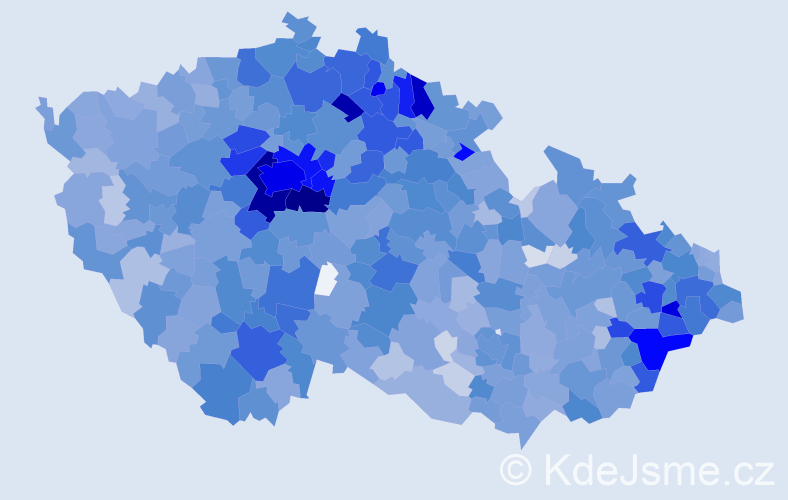 Jméno: 'Rozálie', počet výskytů 3848 v celé ČR