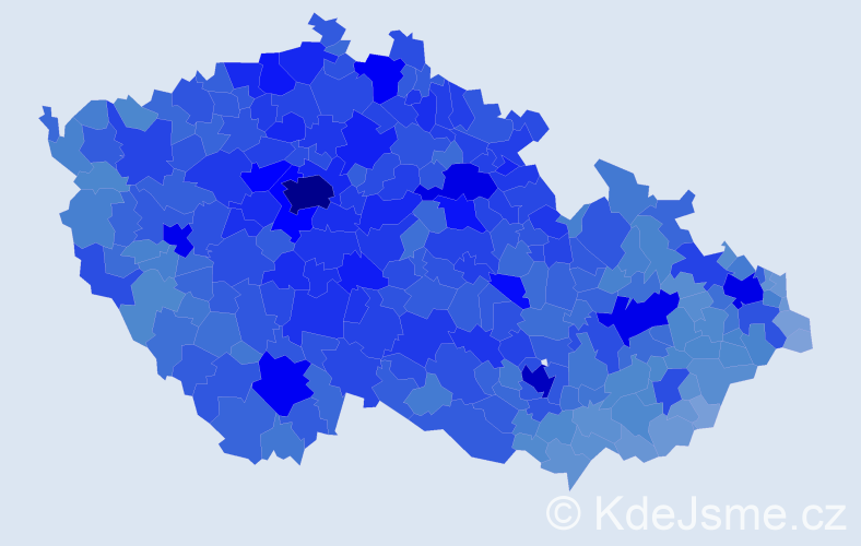Jméno: 'Jiří', počet výskytů 301629 v celé ČR