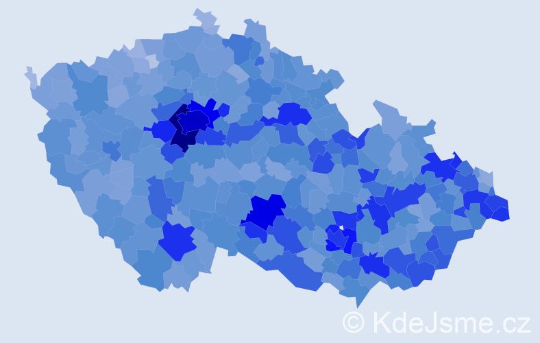 Jméno: 'Šimon', počet výskytů 17303 v celé ČR