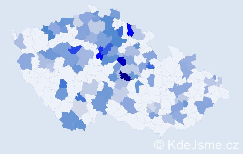Jméno: 'Rozárka', počet výskytů 159 v celé ČR