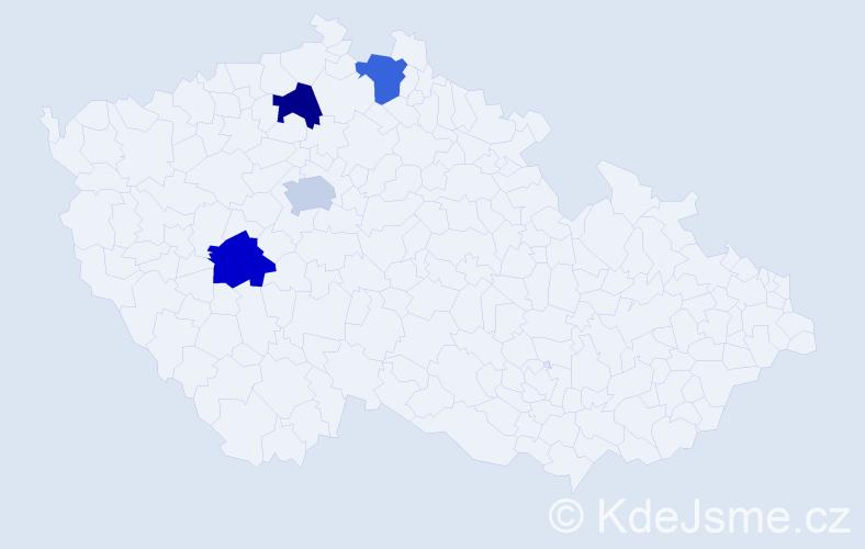Jméno: 'Šimon Matěj', počet výskytů 4 v celé ČR