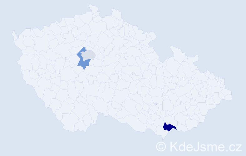 Jméno: 'Šádí', počet výskytů 4 v celé ČR