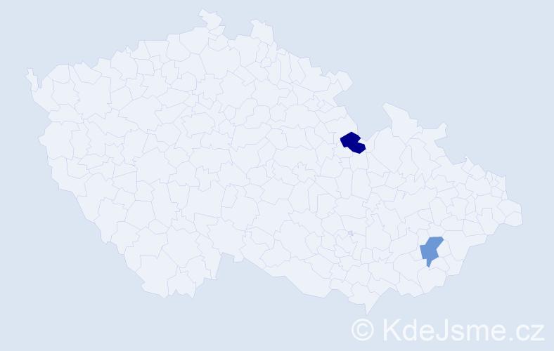 Jméno: 'Lenka Aneta', počet výskytů 2 v celé ČR