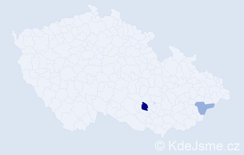 Jméno: 'Vojtěch Tadeáš', počet výskytů 3 v celé ČR