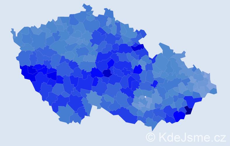Jméno: 'Josef', počet výskytů 216068 v celé ČR