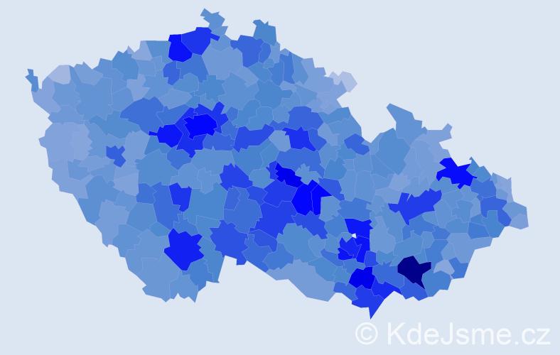Jméno: 'Vít', počet výskytů 18444 v celé ČR