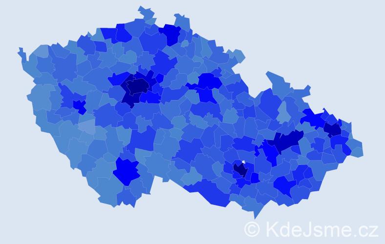 Jméno: 'Veronika', počet výskytů 88854 v celé ČR