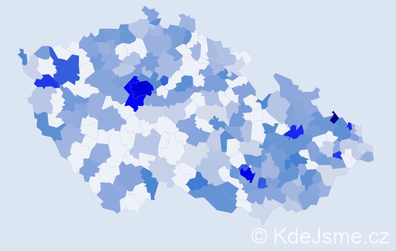 Jméno: 'Sophie', počet výskytů 582 v celé ČR