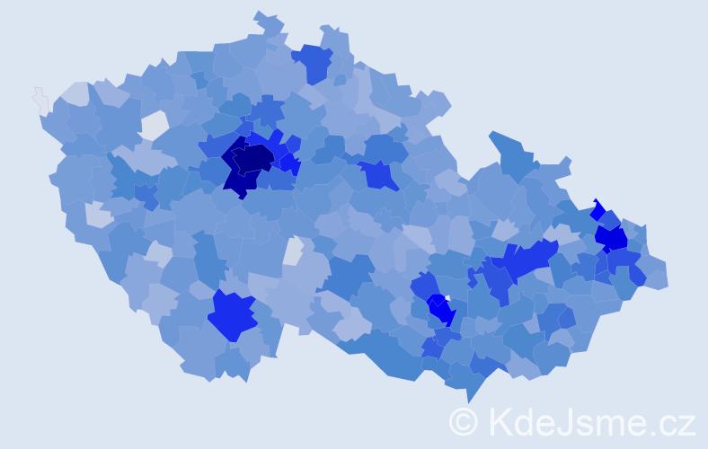 Jméno: 'Sofie', počet výskytů 5500 v celé ČR