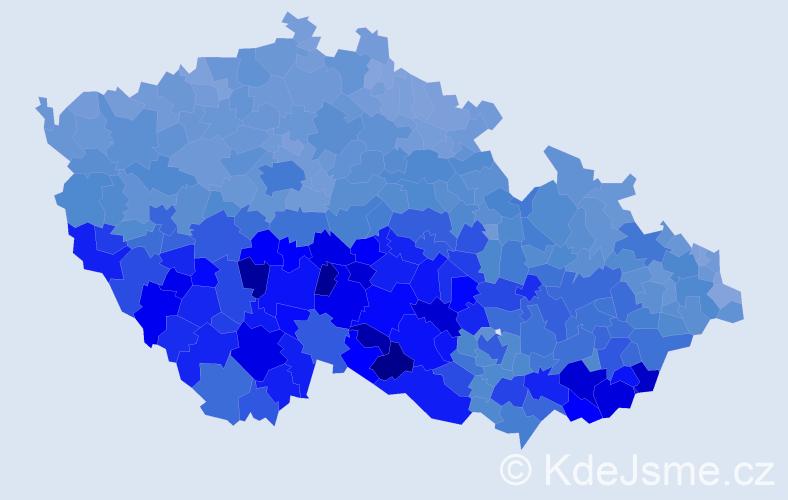 Jméno: 'Marie', počet výskytů 311963 v celé ČR