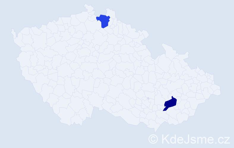 Jméno: 'Štěpán Miroslav', počet výskytů 2 v celé ČR