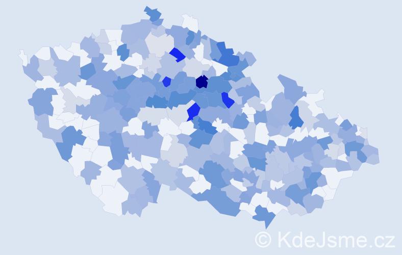 Jméno: 'Vojta', počet výskytů 565 v celé ČR