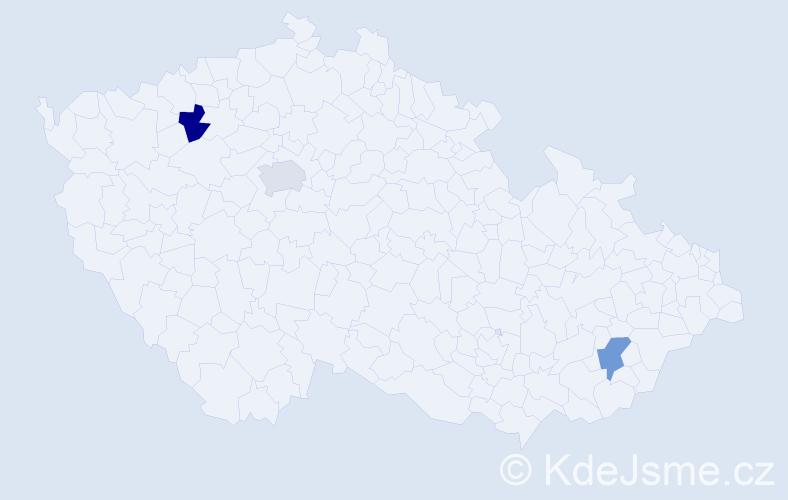 Jméno: 'Xuan Mai', počet výskytů 3 v celé ČR