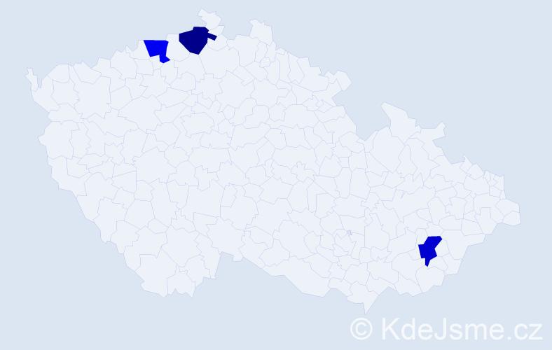 Jméno: 'Šimon Štěpán', počet výskytů 3 v celé ČR
