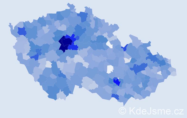 Jméno: 'Emma', počet výskytů 4350 v celé ČR