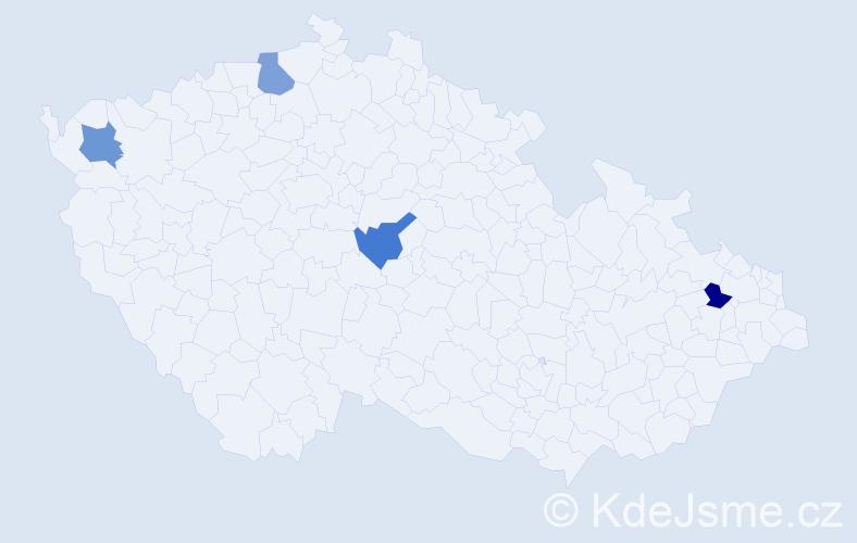 Jméno: 'Vierka', počet výskytů 4 v celé ČR