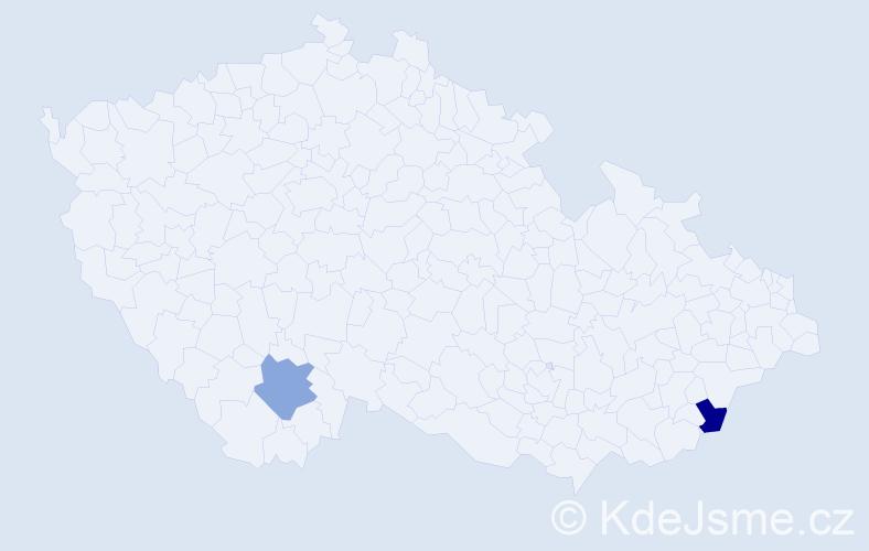 Jméno: 'Šimon Rudolf', počet výskytů 2 v celé ČR