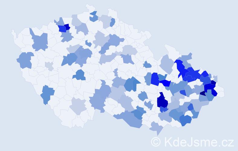 Jméno: 'Horymír', počet výskytů 160 v celé ČR