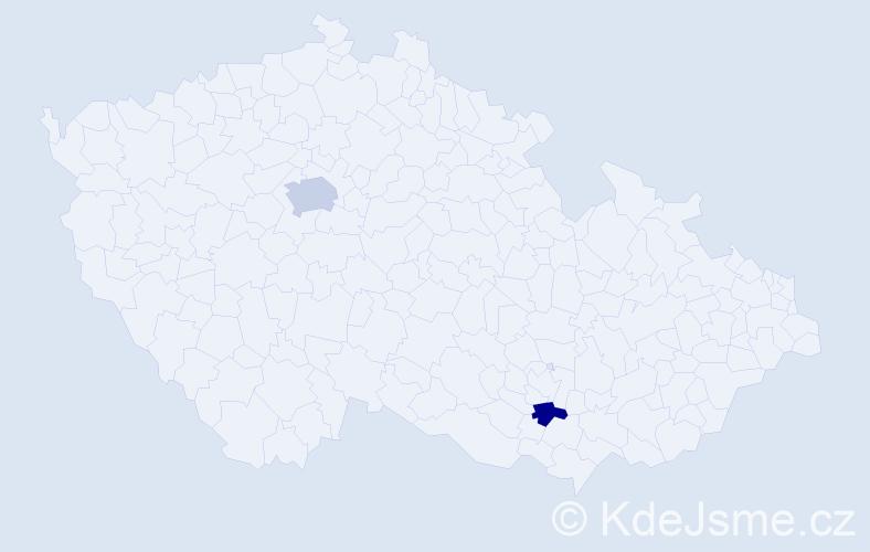 Jméno: 'Šejla', počet výskytů 3 v celé ČR